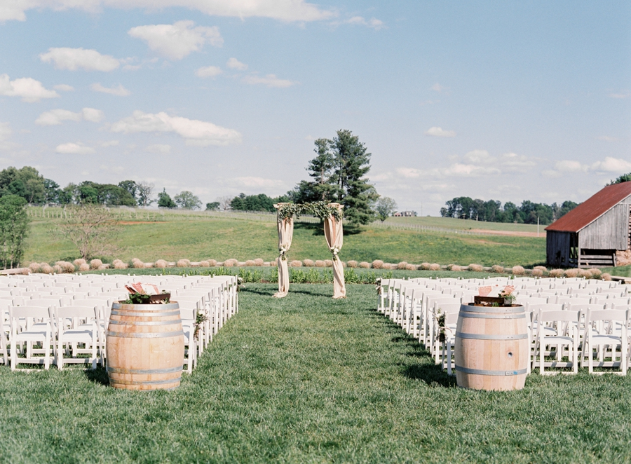 Virginia Fine Art Film Wedding Photographer  | Early Mountain Vineyard Wedding | Ceremony Site