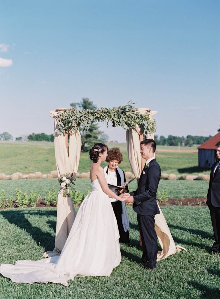 Virginia Fine Art Film Wedding Photographer  | Early Mountain Vineyard Wedding | Ceremony
