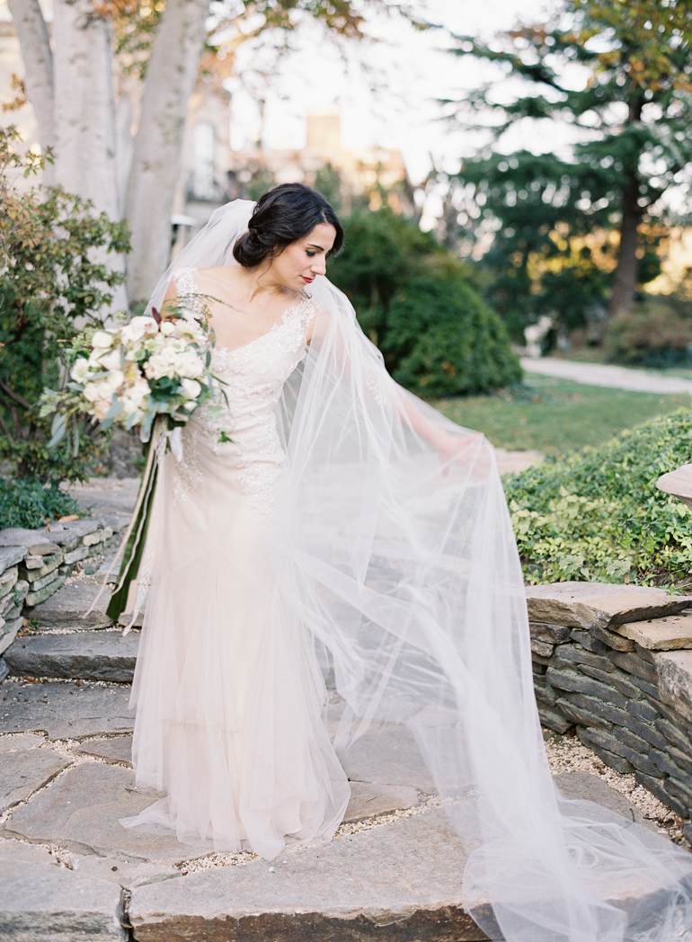 DC Film Wedding Photographer | Meridian House Wedding  | Fine Art Film Charlottesville Virginia Wedding Photographer | Sarah Janks Wedding Dress