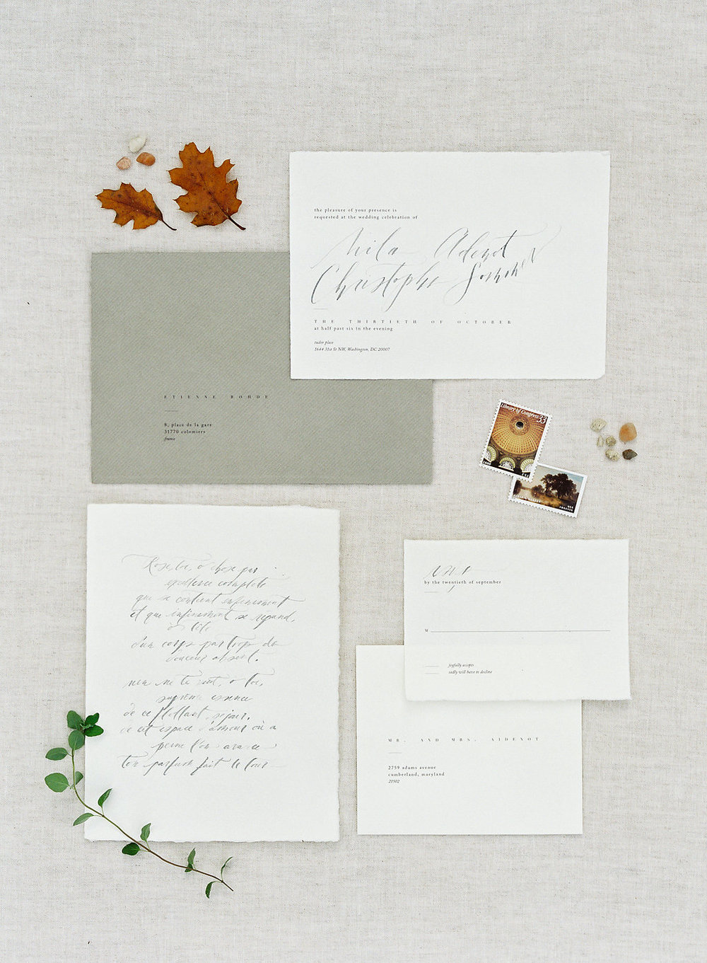inspiration tuscan inspired minimal minimalist classic timeless chic groom elope invitation caligraphy stylist styling
