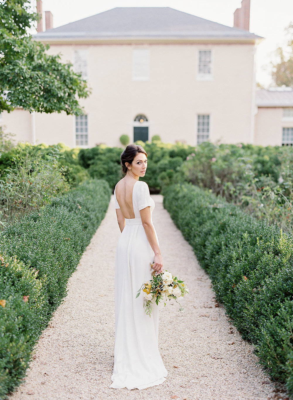 Fine art film photographer photography wedding engagement washington DC georgetown virginia modern bride destination inspiration tuscan inspired minimal classic timeless california ny backless dress
