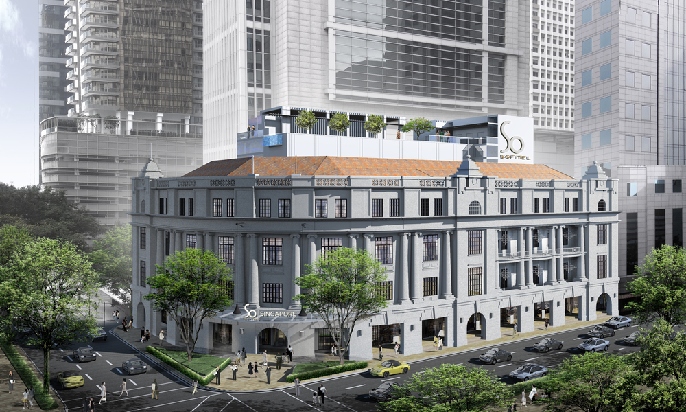 Facade of Sofitel So Singapore (Artist's Impression)