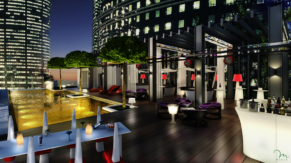 Rooftop Pool at the Sofitel So Singapore (Artist's Impression)