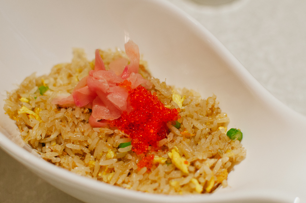 大闸蟹肉鱼子炒丝苗饭 Wok-fried Rice with Hairy Crab Meat and Fish Roe