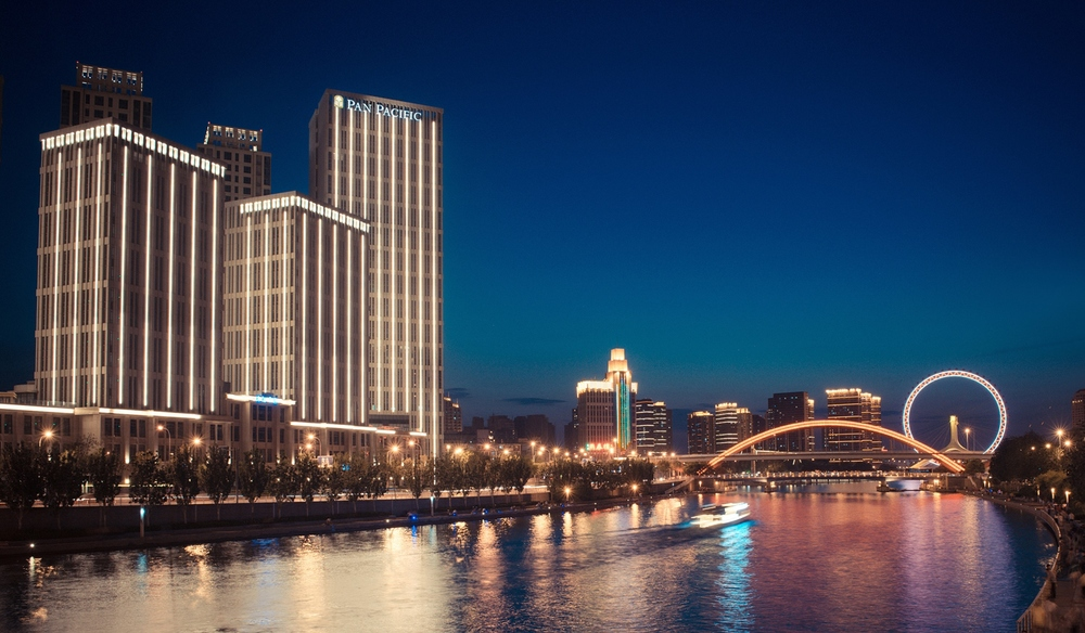 Pan Pacific Tianjin (At Night)