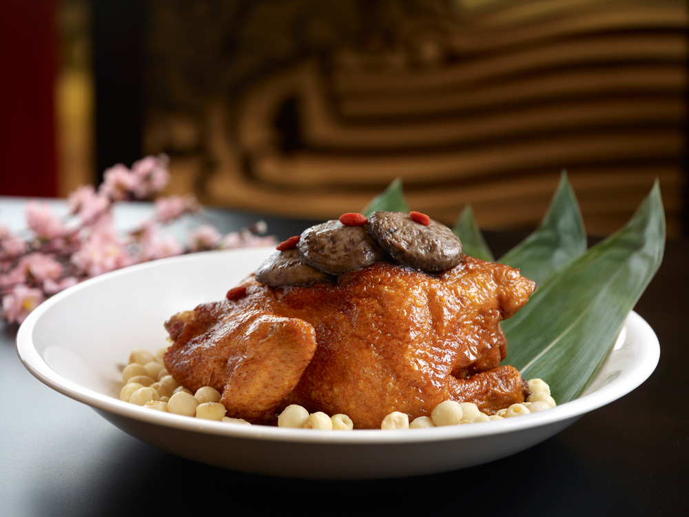 Traditional Stewed Chicken with Eight Treasures and Lotus Seeds     (八宝莲子富贵鸡)  -  S$68++