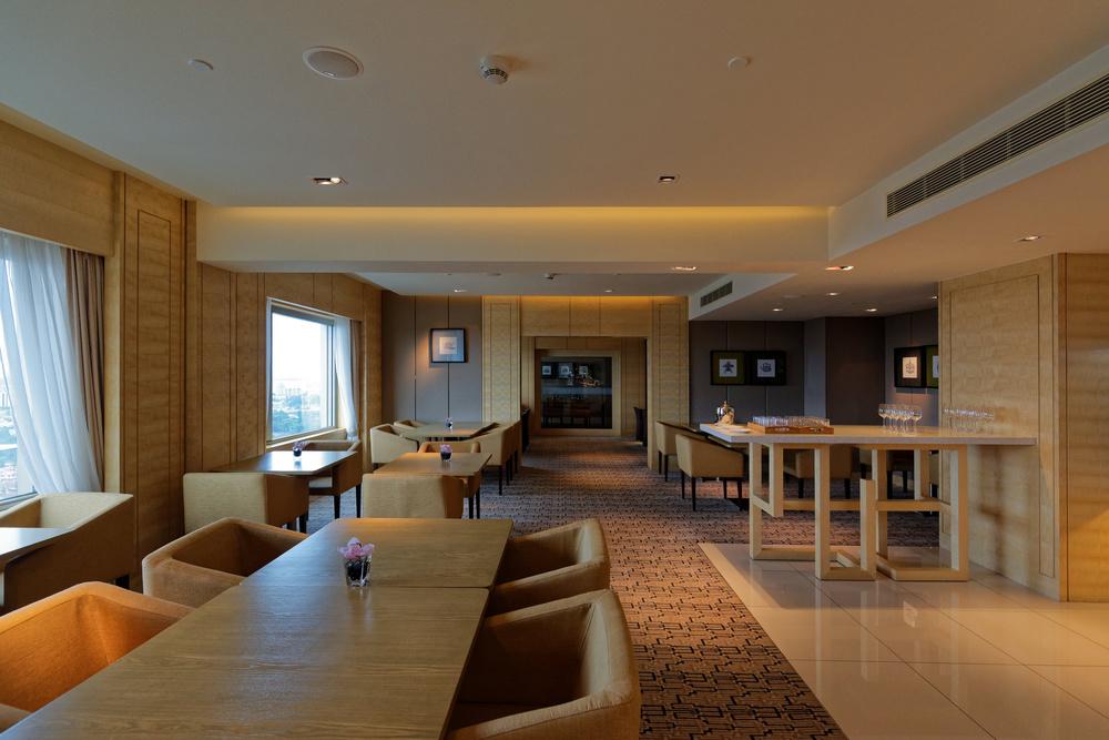 Executive Lounge of the Doubletree By Hilton Hotel Johor Bahru