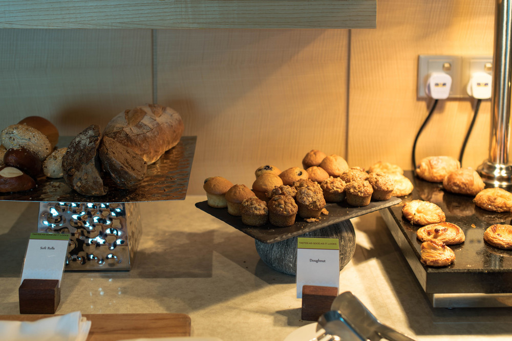 Breakfast is served at theExecutive Lounge of theDoubletree By Hilton Hotel Johor Bahru