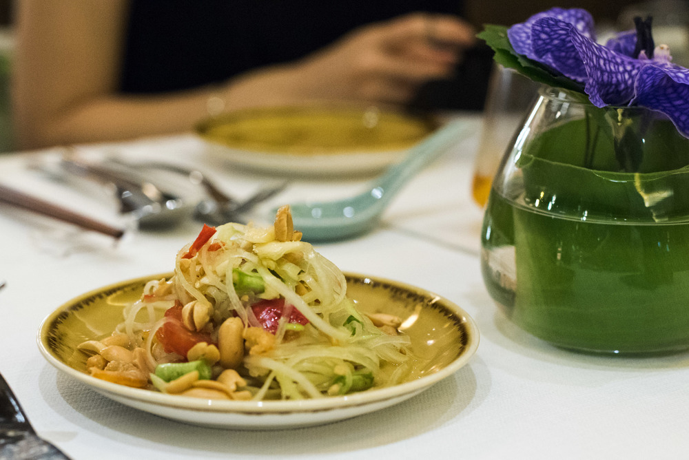 Spicy Papaya Salad -  One Farrer Hotel & Spa (Escape Restaurant)