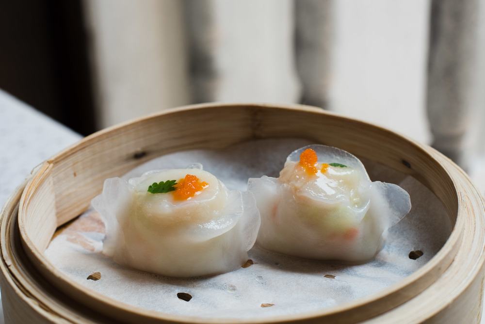 Steamed Scallops Dumpling filled with Chinese Parsnip