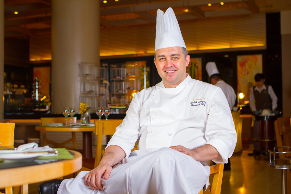 Executive Chef Michele Mingozzi from  Oscar's (  Conrad Centennial Singapore  )