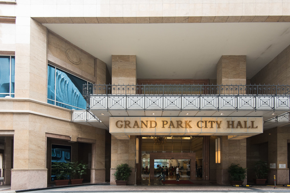 Entrance to the Grand Park City Hall