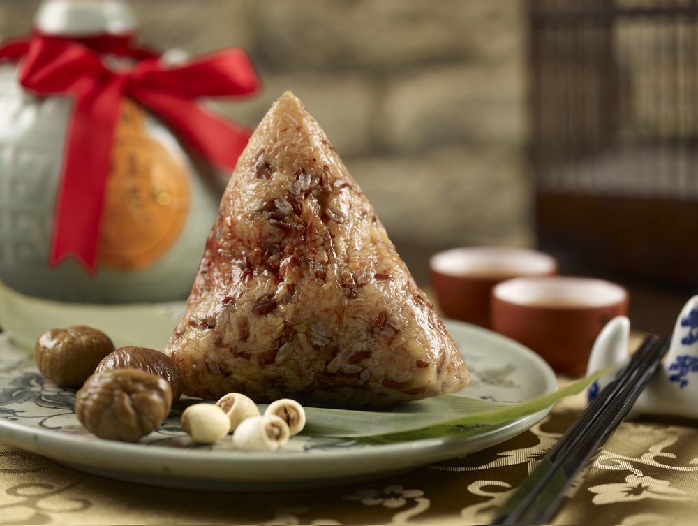 Red Yeast Glutinous Rice Dumpling (S$16+) | Photo Credit: Mandarin Oriental, Singapore