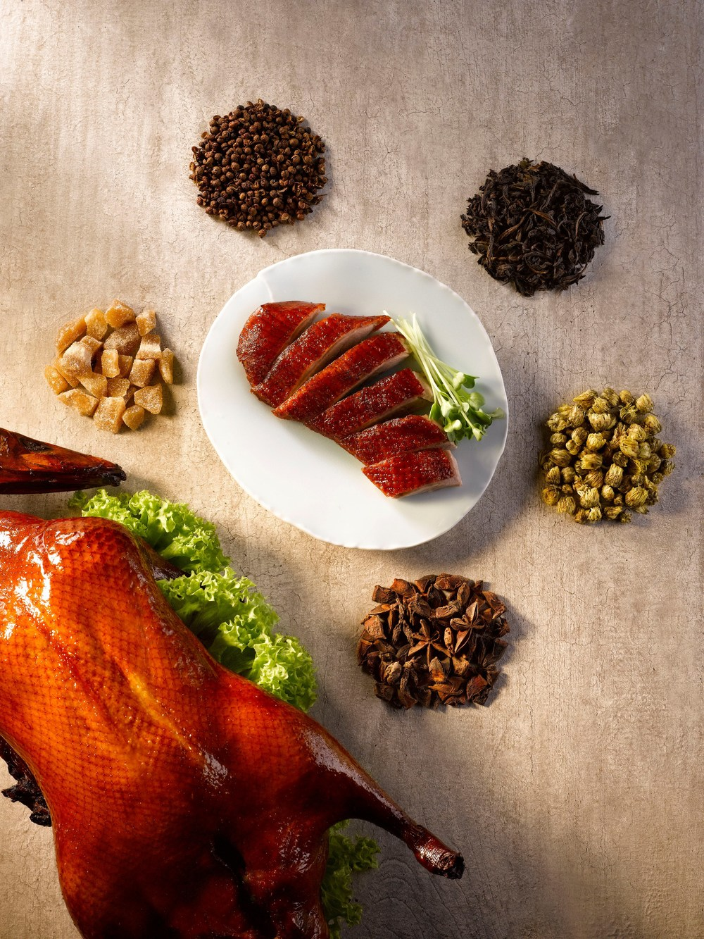 Signature Tea-smoked Duck from Man Fu Yuan | Photo Credit: InterContinental Singapore