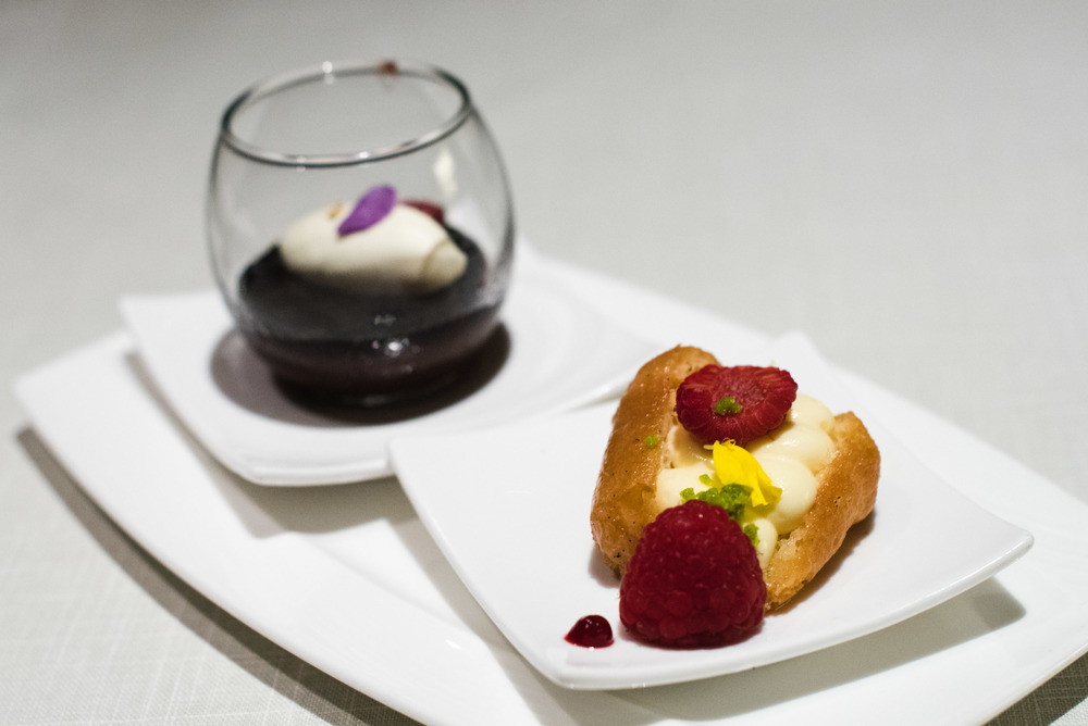 Amalfi Limoncello Neapolitan Baba with Vanilla Custard and Amarena Cherry