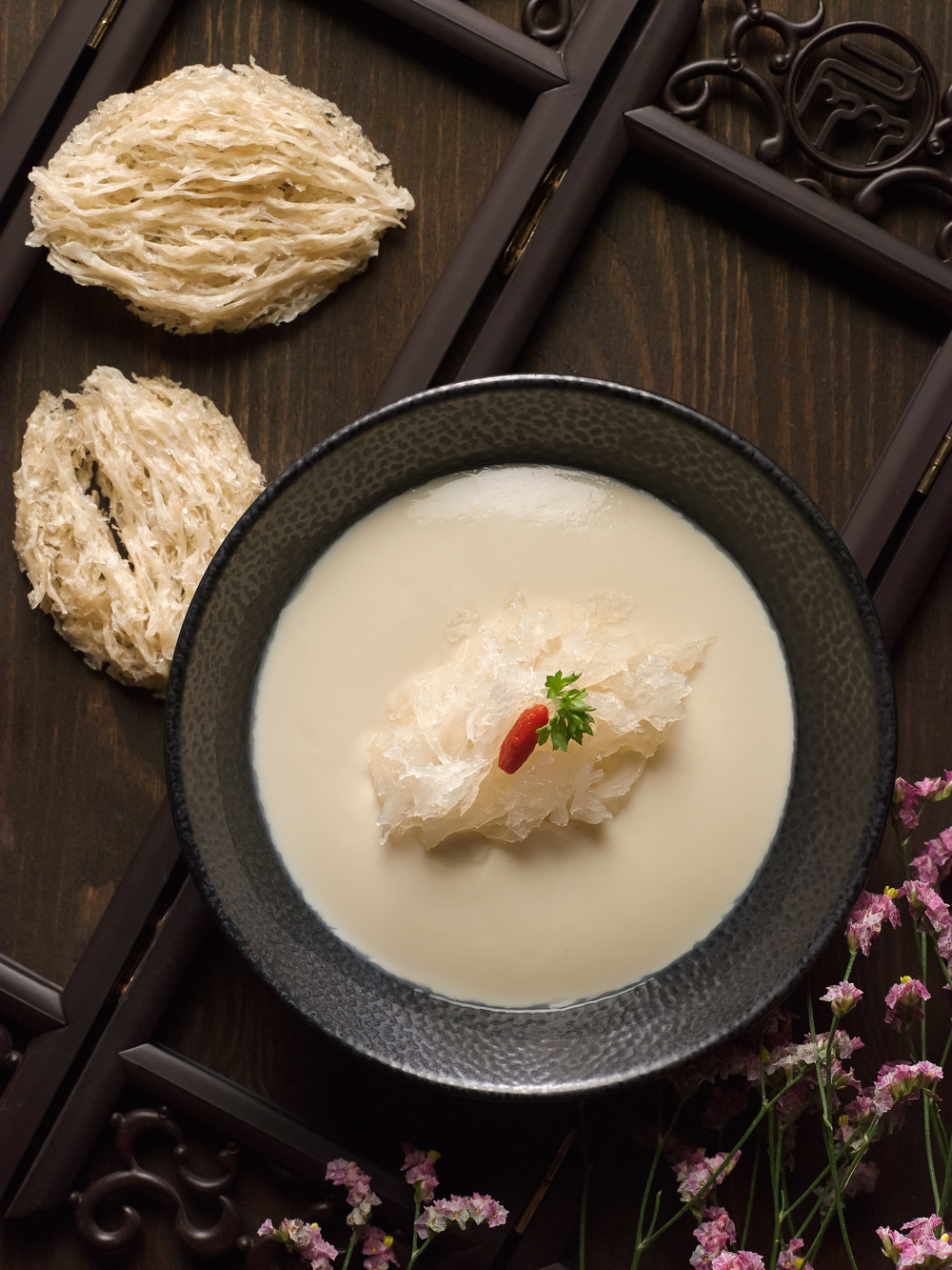 Chilled Homemade Bean Curd with Bird's Nest | Photo Credit: Pan Pacific Singapore