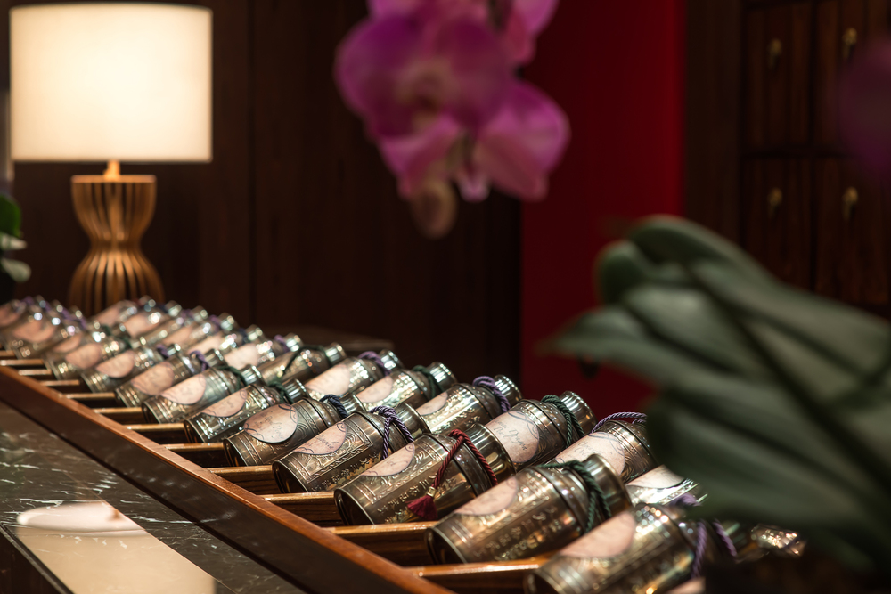 Hai Tien Lo's Tea Selection | Photo Credit: Pan Pacific Singapore
