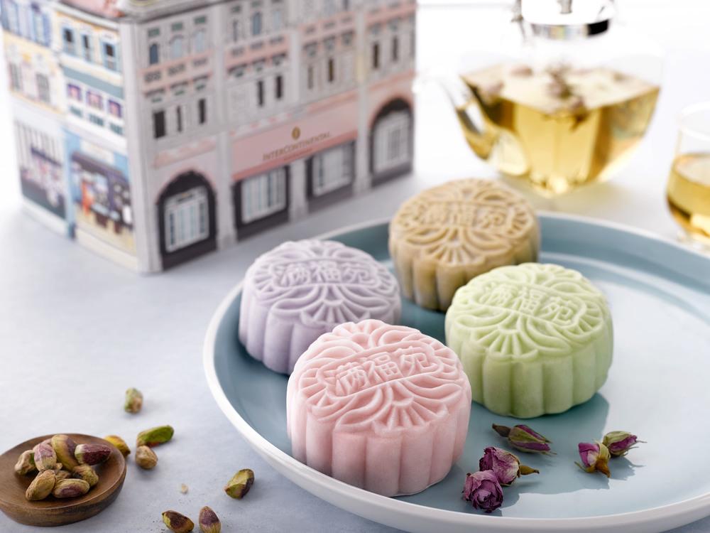 Snowskin Tea Mooncake Selection (冰皮精选茶系列月饼) - S$66 for 4 Pieces