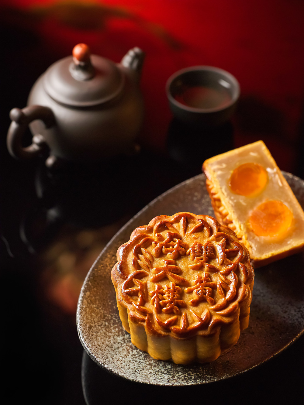 White Lotus Seed Paste with Double Yolk | Photo Credit: Pan Pacific Singapore