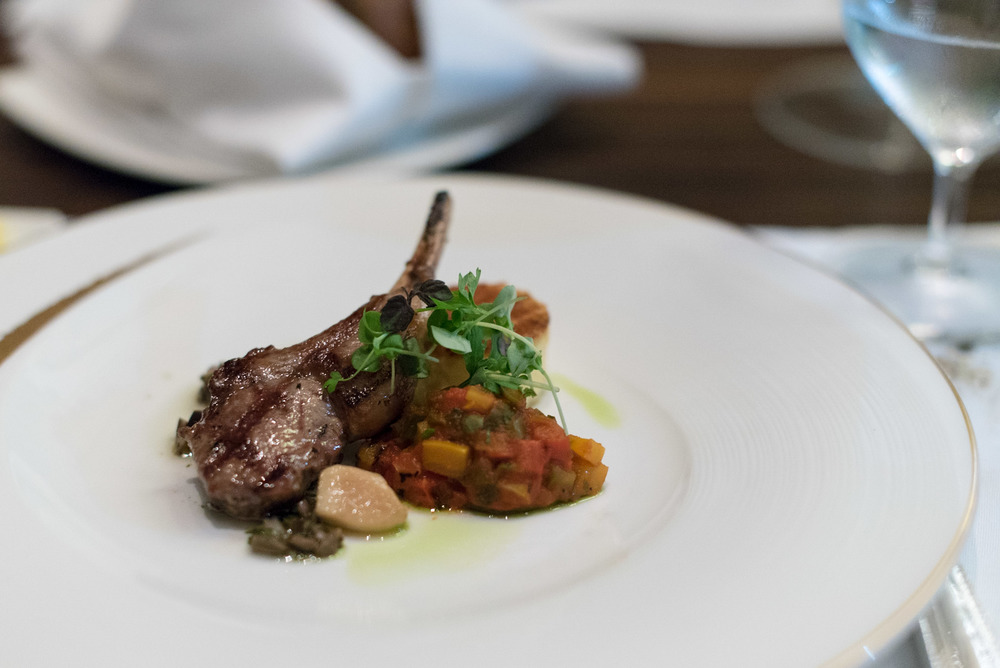 Grilled Milk-Fed Lamb Cutlets (Tasting Portion) Brasserie Les Saveurs - St. Regis Singapore