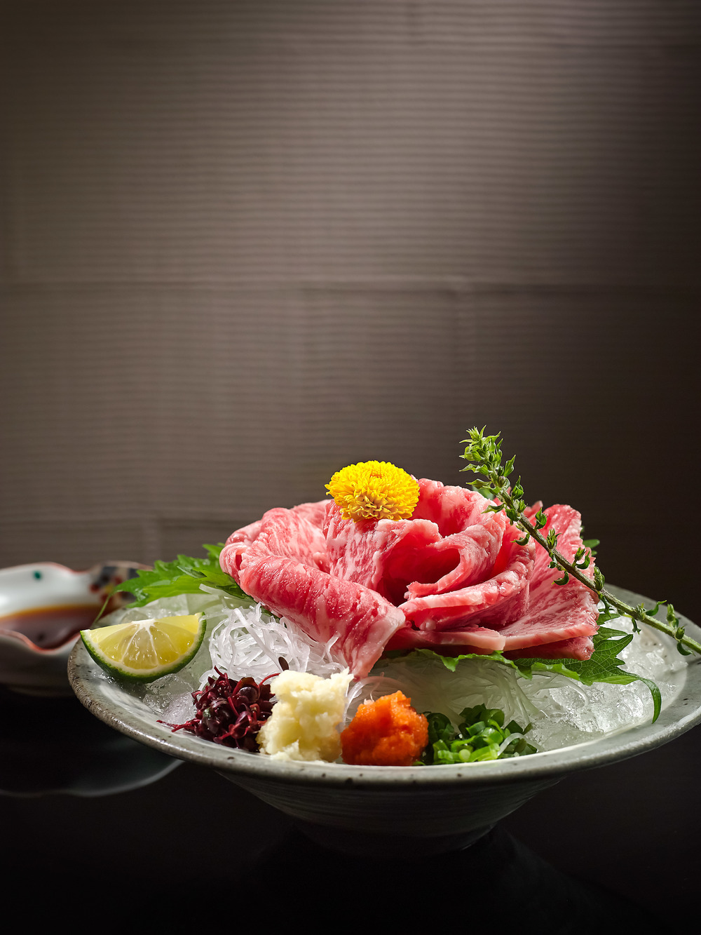 A la carte Wagyu Sashimi | Photo Credit: Pan Pacific Singapore