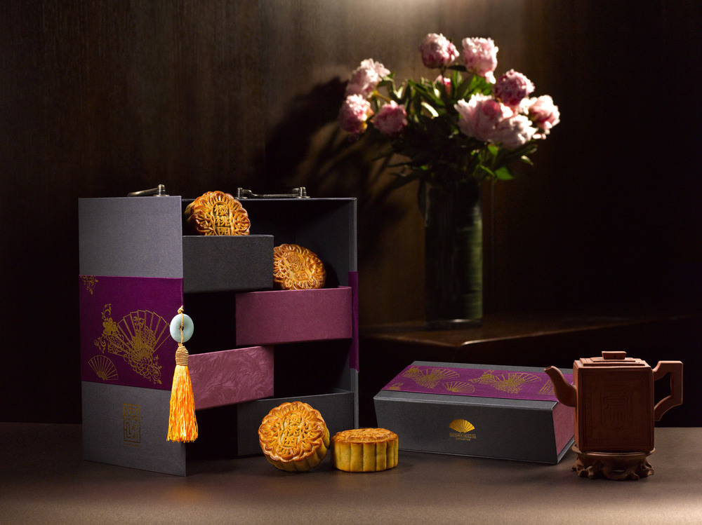 Signature Pecan Maple Praline Mooncake | Photo Credit: Mandarin Oriental, Singapore