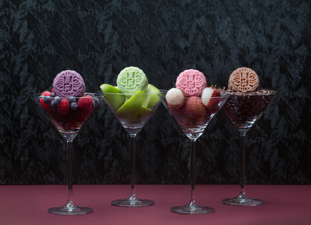 Assorted Mini Snowskin Martini Mooncakes (S$64+) | Photo Credit: The Ritz-Carlton, Millenia Singapore