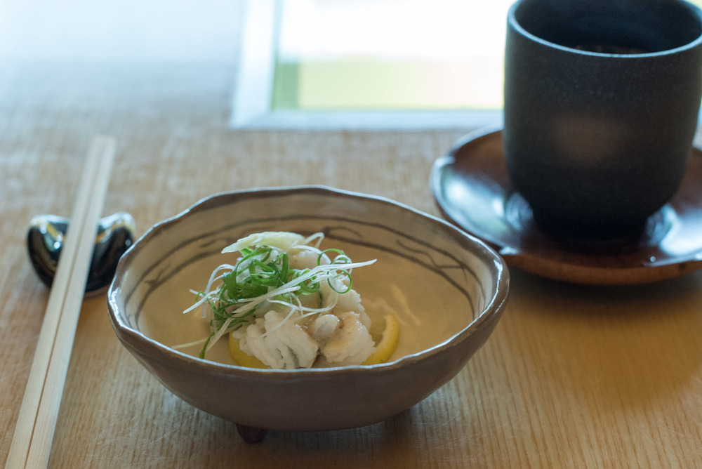 Pike Eel in Vinegar Miso Dressing