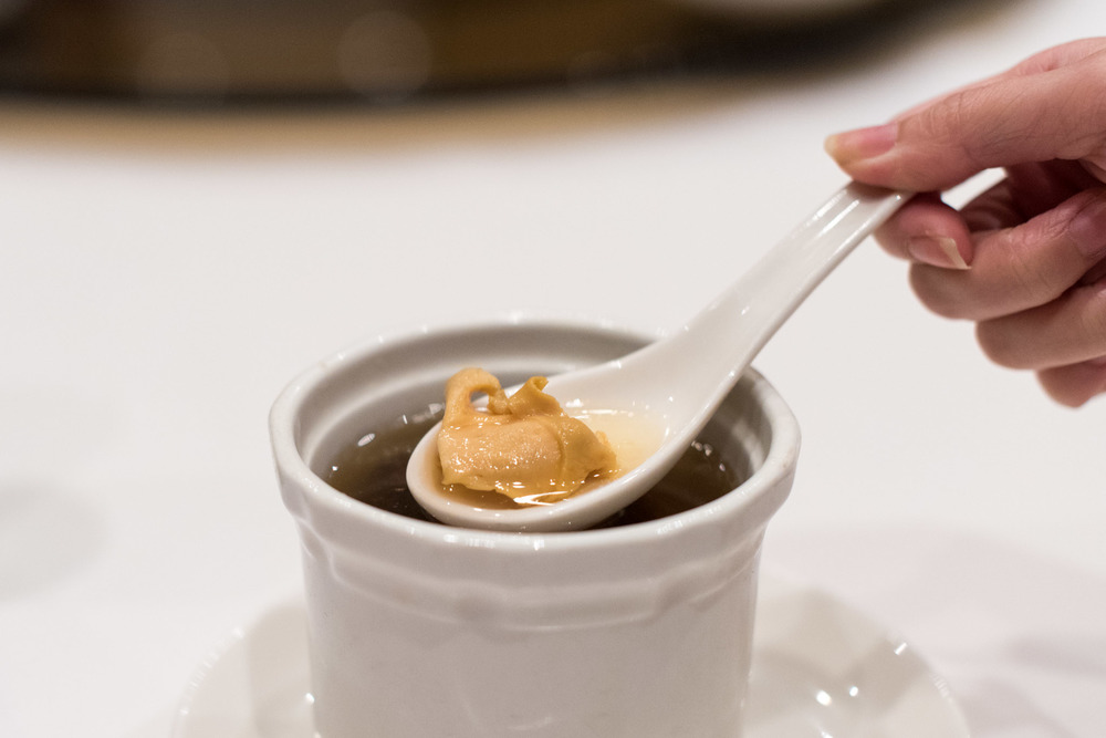 Double-boiled Conch and Morel Mushroom Soup  Wan Hao Chinese Restaurant - Singapore Marriott Tang Plaza Hotel