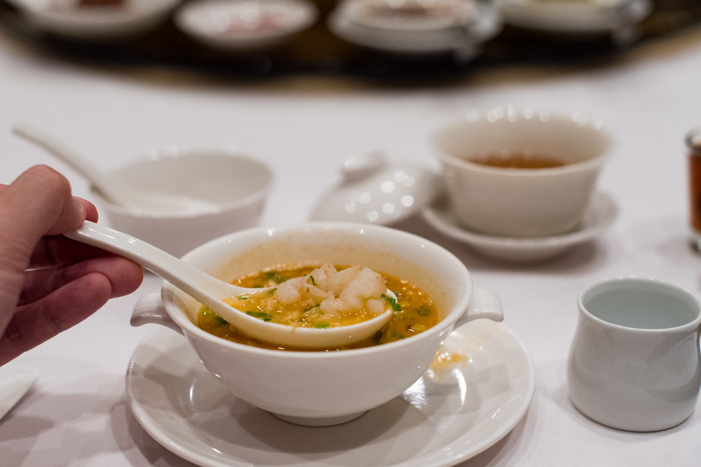 Lobster Broth, Diced Seafood and Crispy Rice  Wan Hao Chinese Restaurant - Singapore Marriott Tang Plaza Hotel