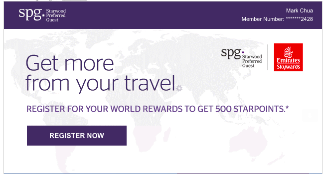 500 Bonus Starpoints with Emirates Skywards