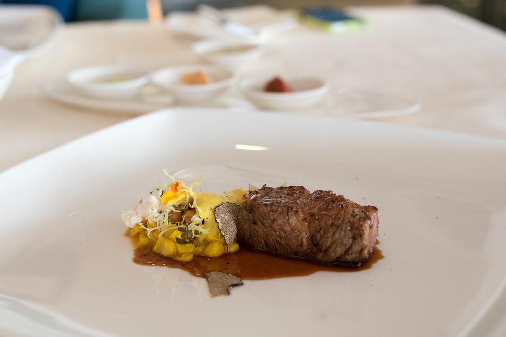 Pork, Corn Espuma, Summer Truffle Dolce Vita - Mandarin Oriental, SIngapore