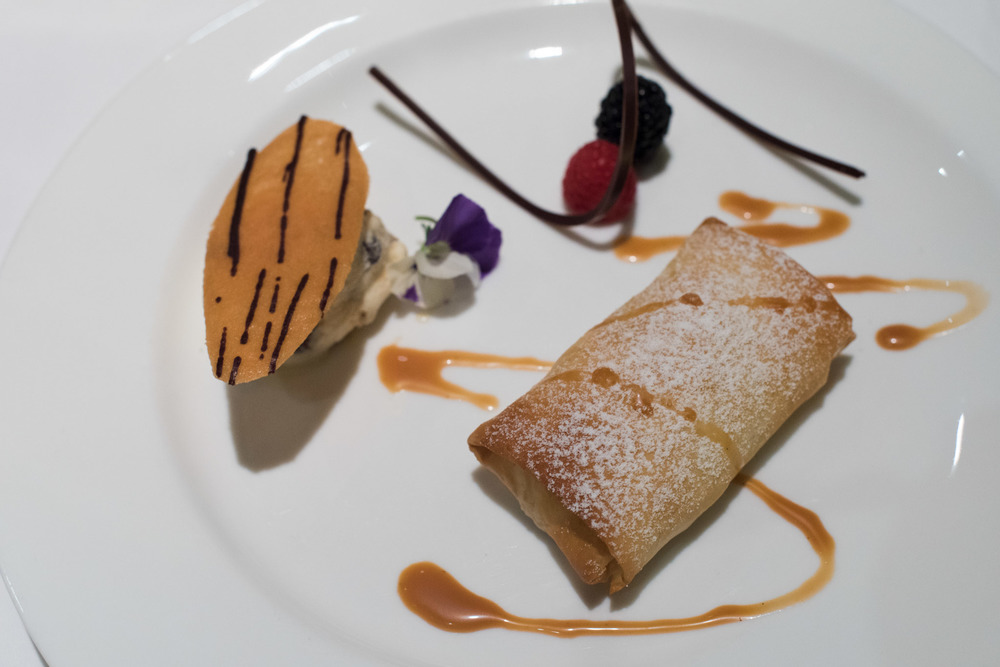 Banana Strudel DOMVS, The Italian Restaurant - Sheraton Towers Singapore