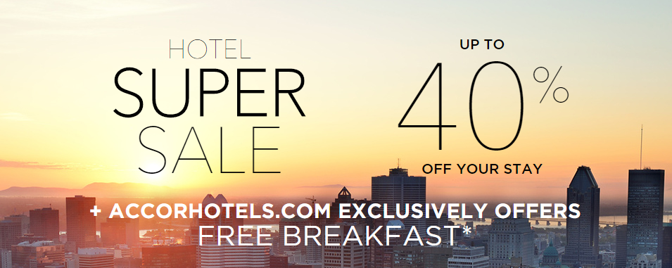 Save Up to 40% Off! | Photo Credit: Accor