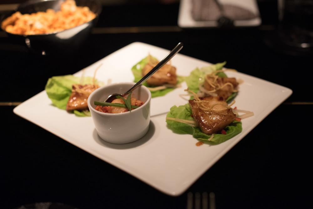 Miso Cod Lettuce Wraps (S$20++) Manhattan - Regent Singapore