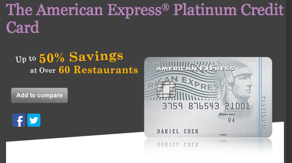 American Express Platinum Credit Card | Photo Credit: American Express Singapore