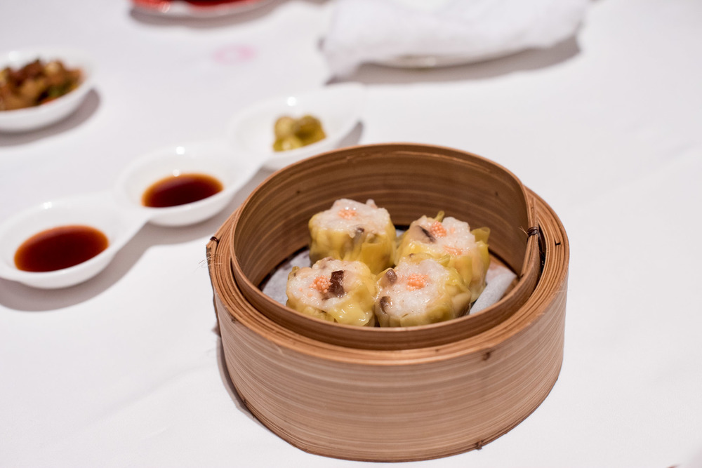 Steamed Siew Mai with Fish Roe, Prawn and Mushroom  Shang Palace - Shangri-La Hotel, Singapore