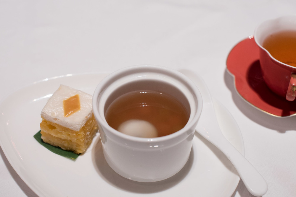 Steamed Layer Cake, Coconut Combination with Ginger Tea and Glutinous Rice Ball  Shang Palace - Shangri-La Hotel, Singapore
