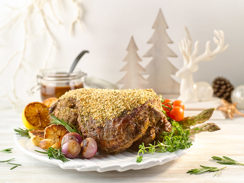 Roasted Leg of Lamb with Rosemary Garlic and Caramelised Shallot Sauce | Photo Credit: Crowne Plaza Changi Airport