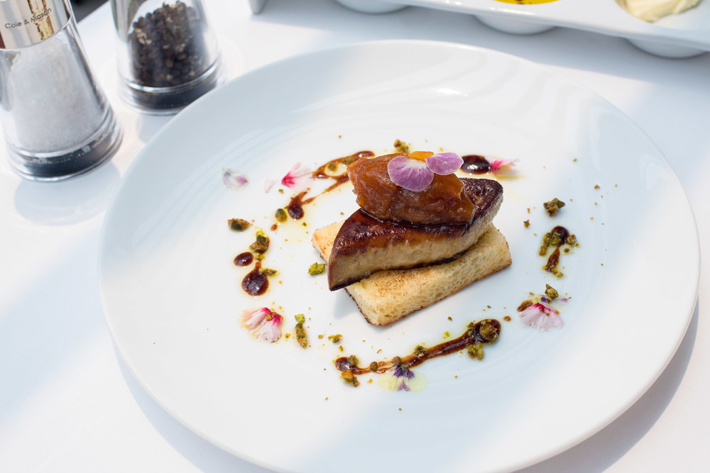 Pan-fried Duck Foie Gras (S$28++) Pool Grill - Singapore Marriott Tang Plaza Hotel