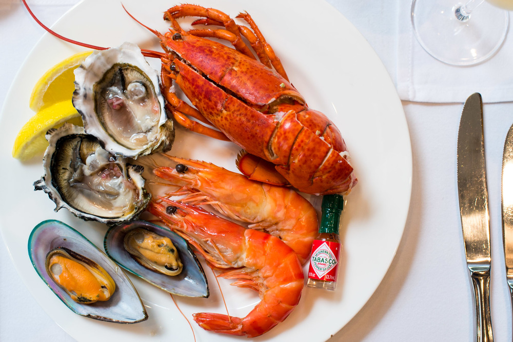 Plate of Fresh Seafood Brasserie Les Saveurs - The St. Regis Singapore