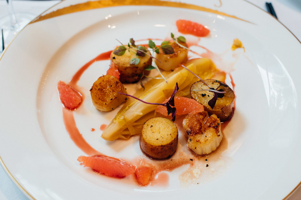 Pan Seared Pacific Scallops Brasserie Les Saveurs - The St. Regis Singapore
