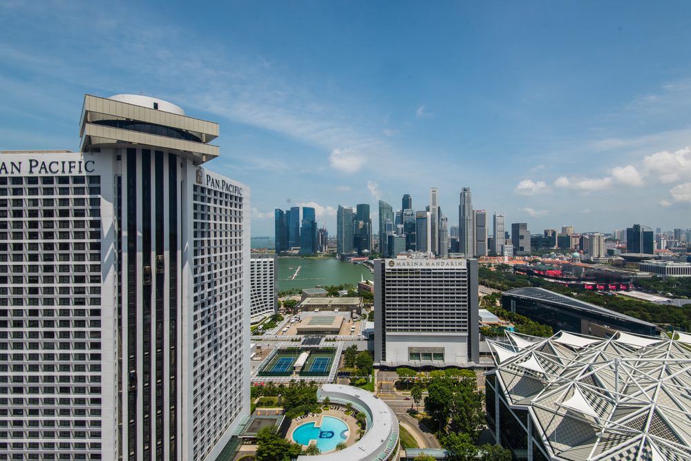 View from the Executive Lounge Conrad Centennial Singapore