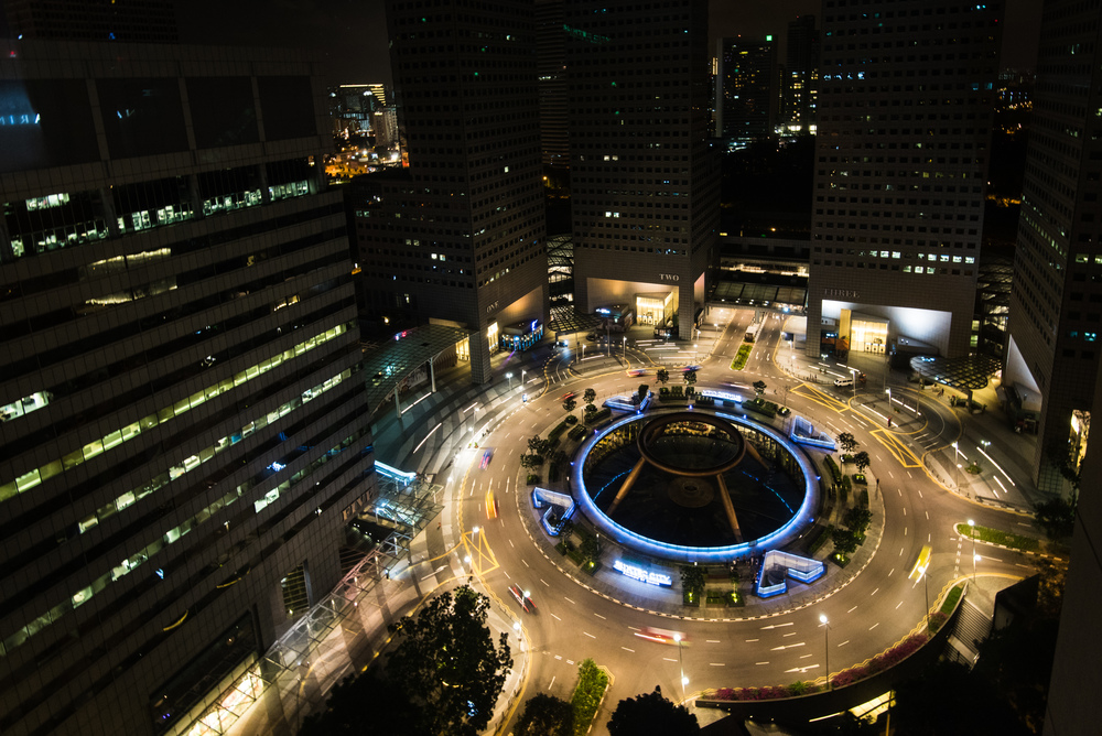 View from the Centennial Suite (Night) Conrad Centennial Singapore