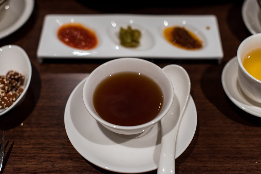 Warm Ginger Tea  Hai Tien Lo - Pan Pacific Singapore