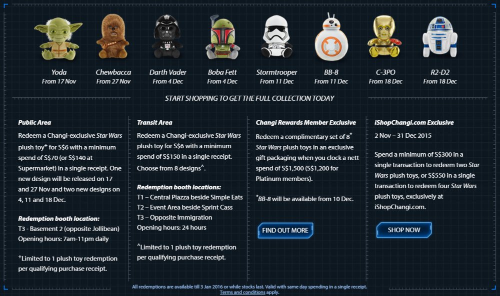 Take Home Star Wars Plush | Photo Credit: Changi Airport Singapore