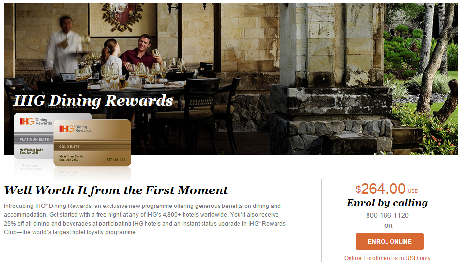 IHG® Dining Rewards | Photo Credit: InterContinental Hotels Groups