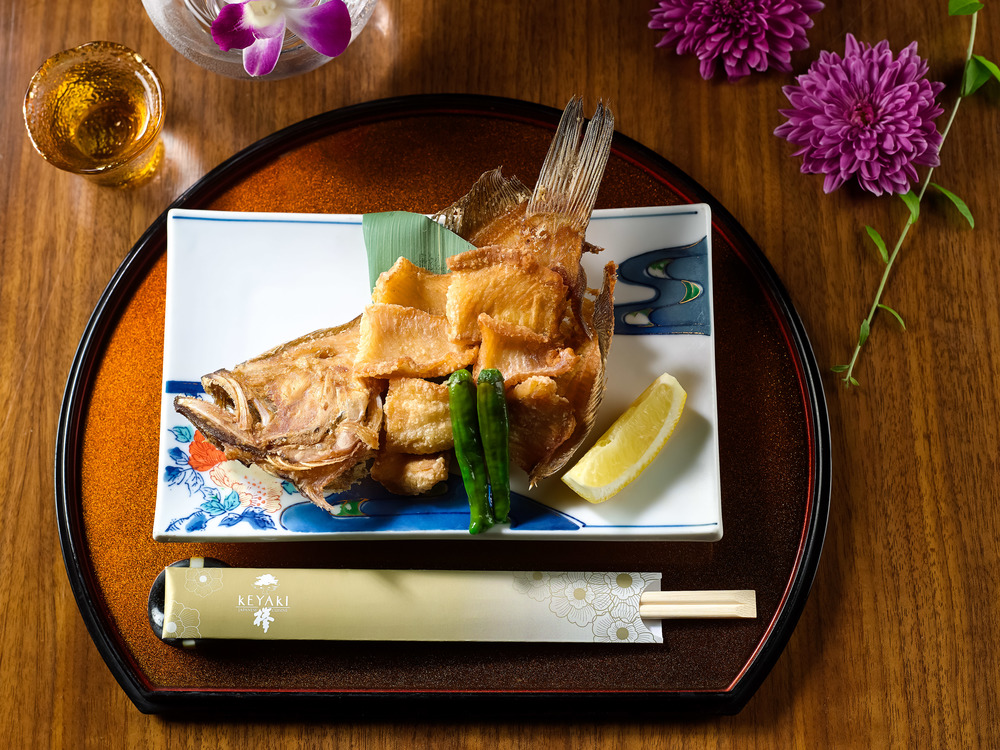 Deep-fried Flounder Fish | Photo Credit: Pan Pacific Singapore