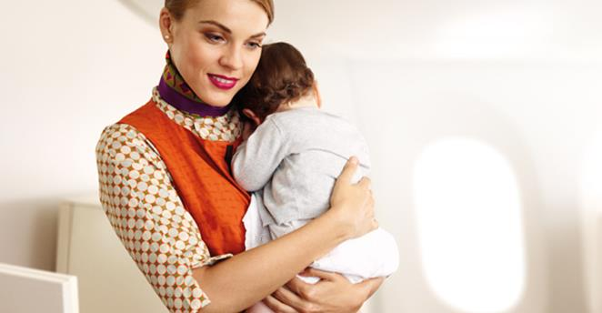 Flying Nannies on Etihad | Photo Credit: Etihad