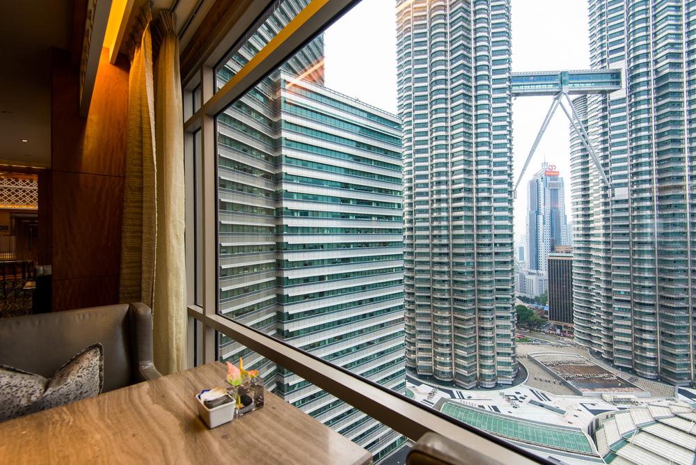 View of the Petronas Towers from Oriental Club Mandarin Oriental, Kuala Lumpur